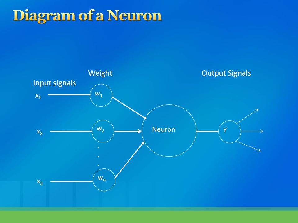  The neuron computes the weighted sum of the input signals and compares the result with a threshold value of, T h  If the net weighted input is less than the threshold the neuron output is –1.