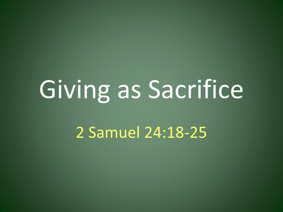 Individual Giving at Assembly is Commanded,1 Corinthians 16:1,2.