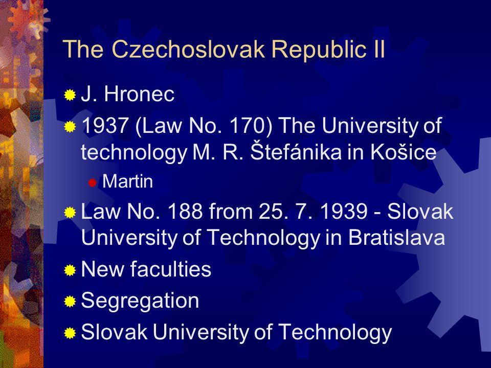 The Czechoslovak Republic II  J. Hronec  1937 (Law No.