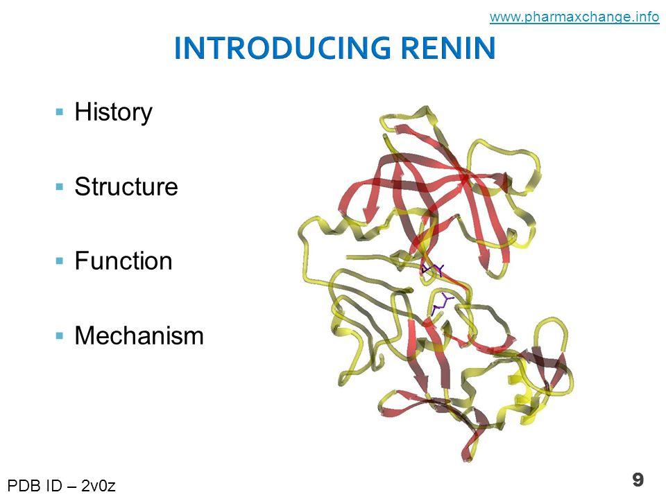 9  History  Structure  Function  Mechanism PDB ID – 2v0z www.pharmaxchange.info