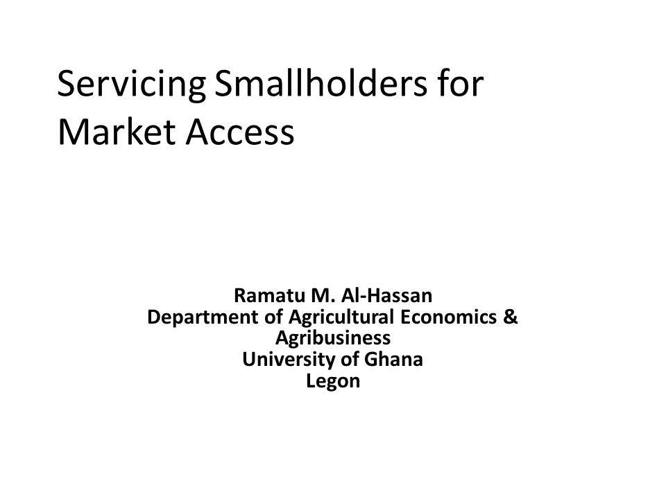 Assessment Market linkage arrangements biased towards horticulture export commodities Largely successful  rapid growth in exports of NTAE albeit problems of standards Majority of smallholders still rely on domestic spot markets for staples Challenge is to transform this market as an integral part of agricultural modernisation efforts 10/11/201412