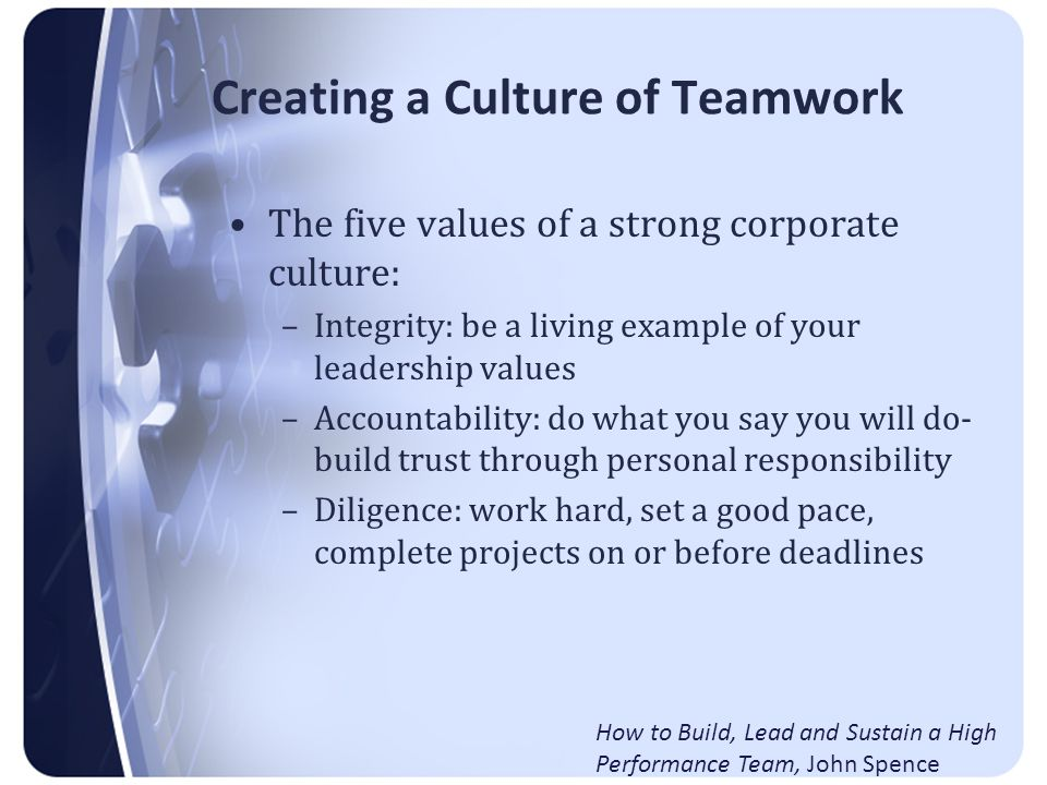 It's Your Ship: Building a team on USS Benfold Create a Climate of Trust: Trust is like a bank account.