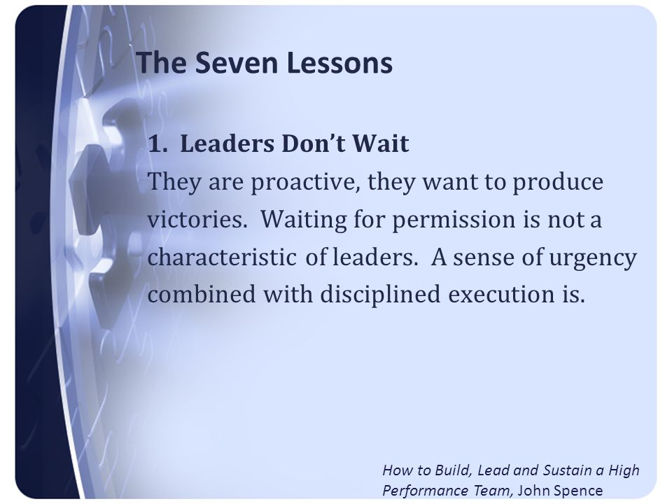 The Seven Lessons 2.