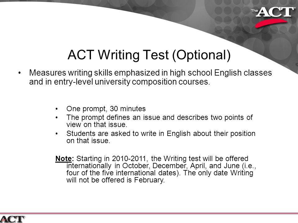 ACT writing question?
