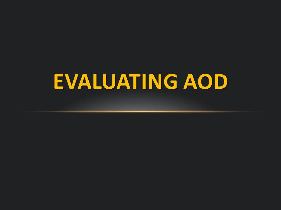 EVALUATING AOD