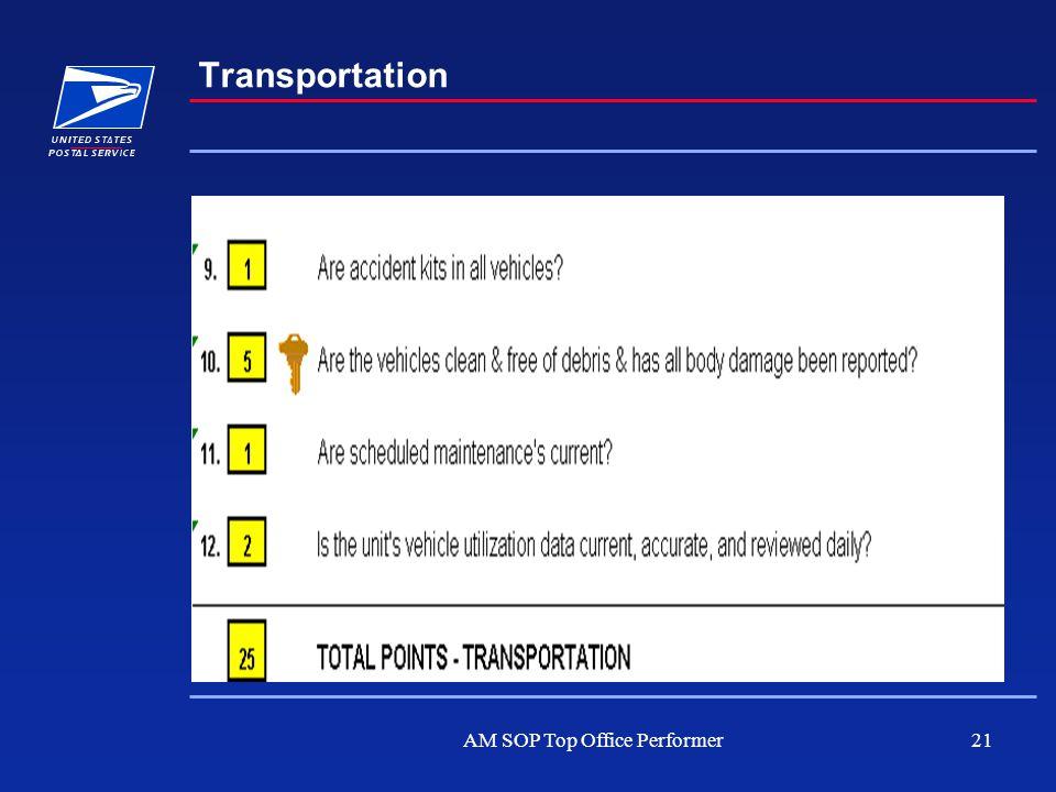 AM SOP Top Office Performer21 Transportation