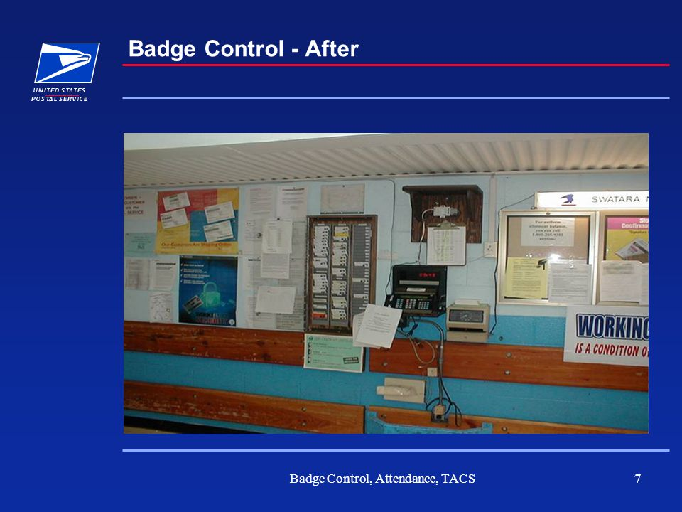 Badge Control, Attendance, TACS7 Badge Control - After
