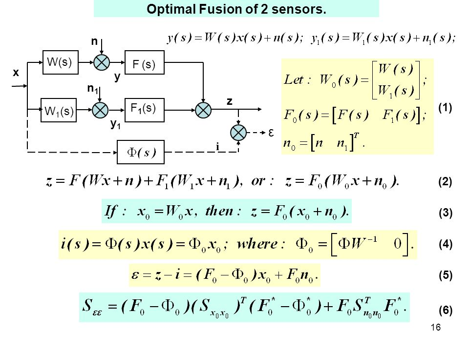 16 Optimal Fusion of 2 sensors.