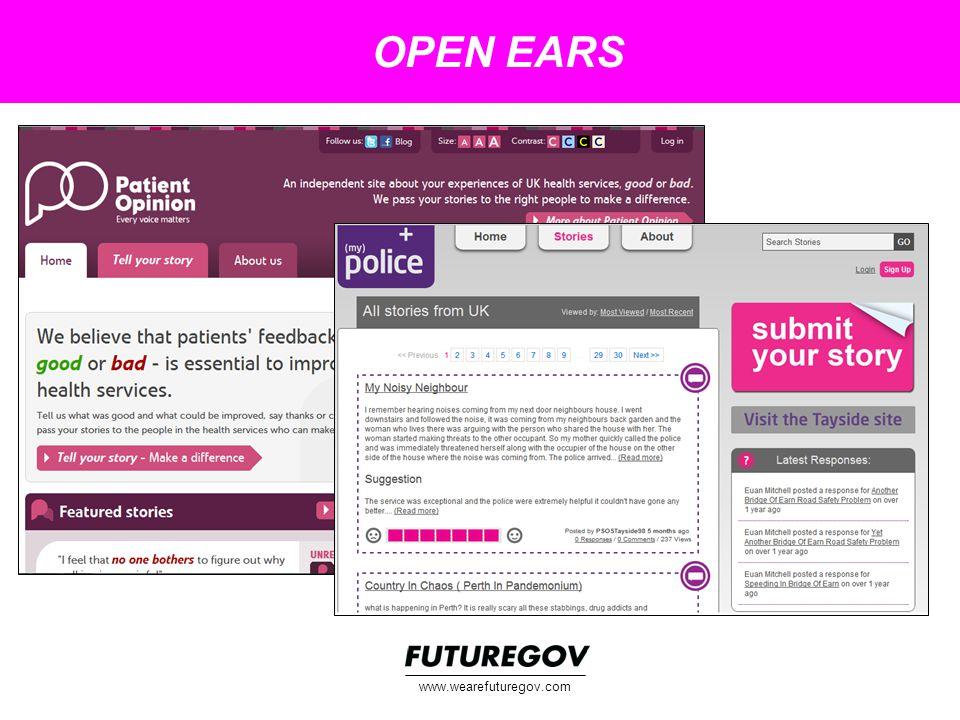 OPEN EARS www.wearefuturegov.com