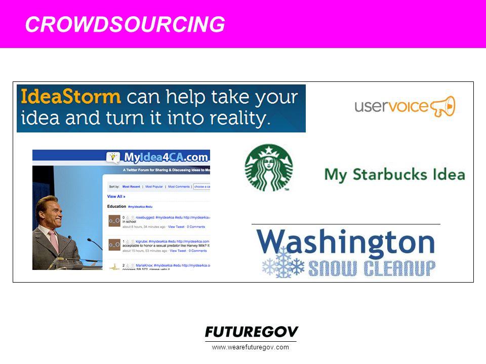 www.wearefuturegov.com CROWDSOURCING