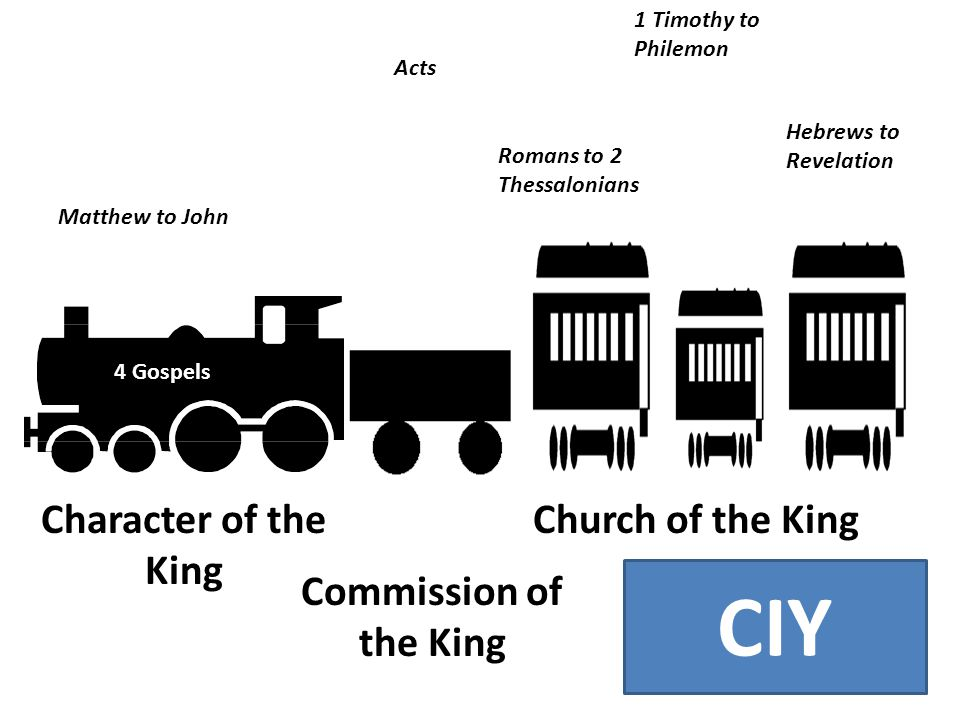 4 Gospels Acts 9 Practical Character of the King Commission of the King Church of the King Pastoral 9 Persecution 4 Matthew to John Hebrews to Revelat