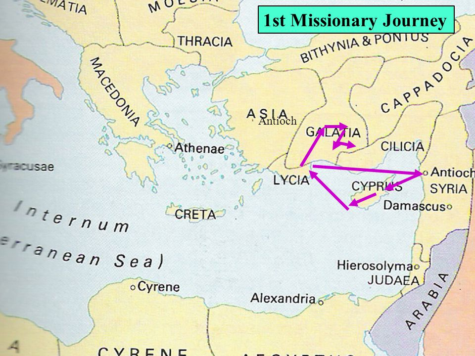 Antioch 1st Missionary Journey