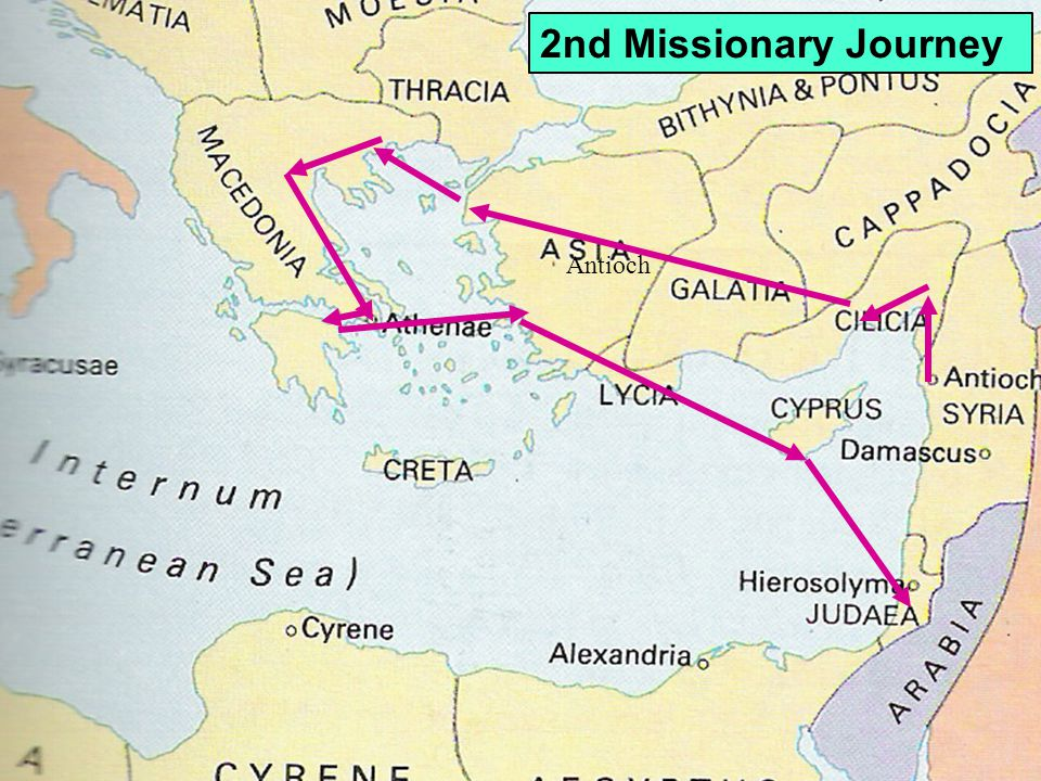 Antioch 2nd Missionary Journey