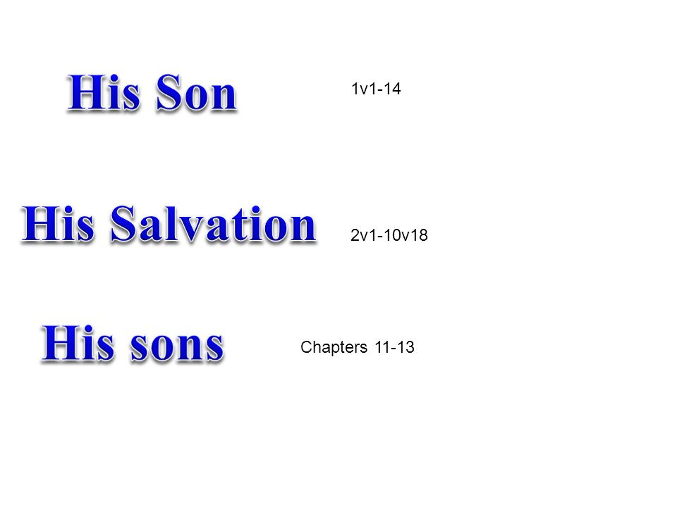 1v1-14 2v1-10v18 Chapters 11-13