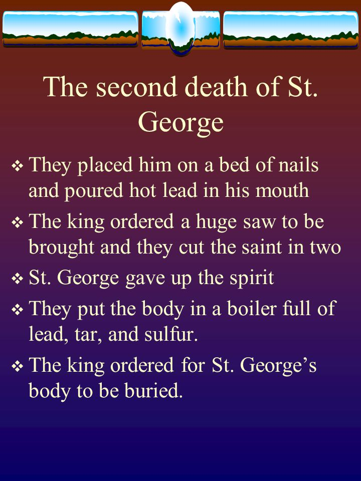 The second death of St.