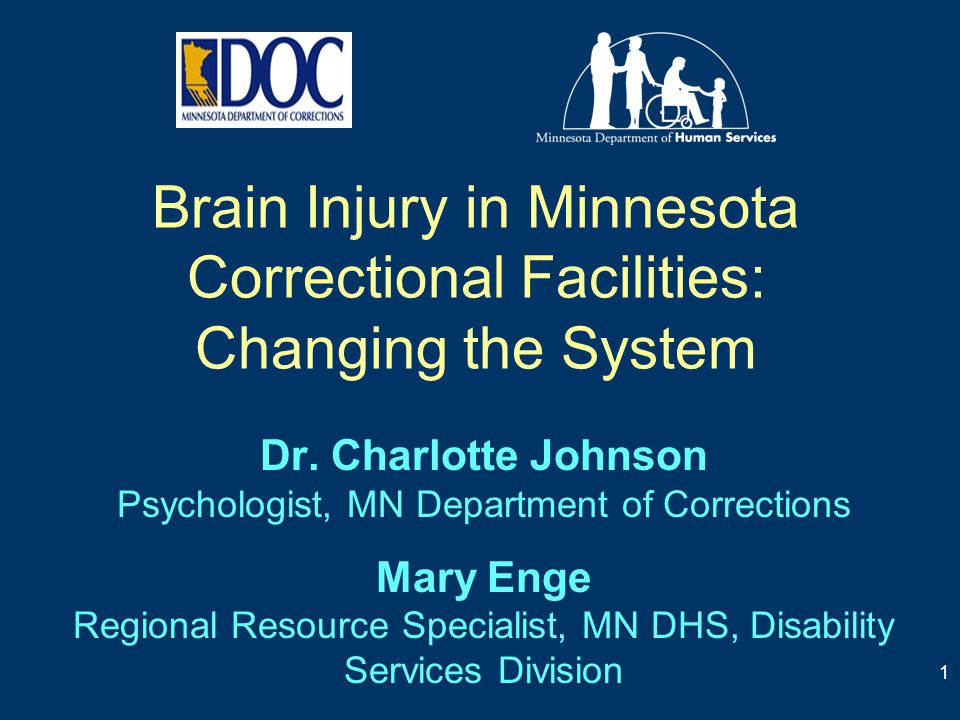 Brain Injury in Minnesota Correctional Facilities: Changing the System Dr. Charlotte Johnson Psychologist, MN Department of Corrections Mary Enge Regi