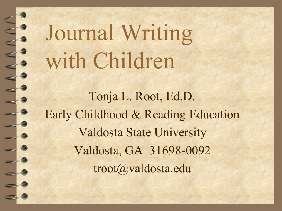 Root, VSU32 Learning Journals 4 Students write about content of subjects learned.