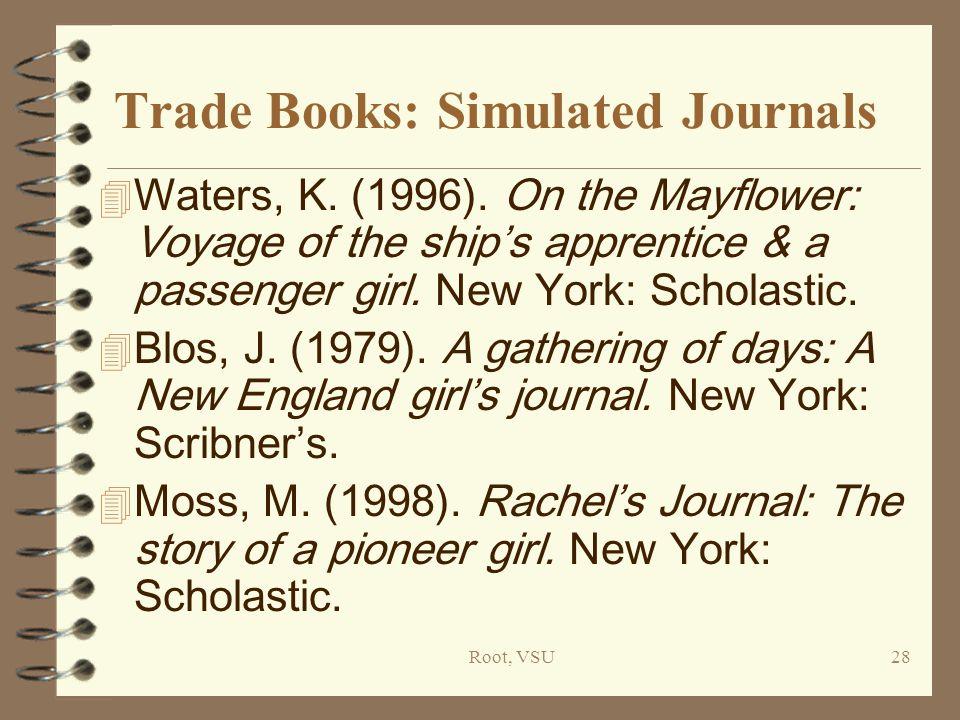 Root, VSU28 Trade Books: Simulated Journals 4 Waters, K.