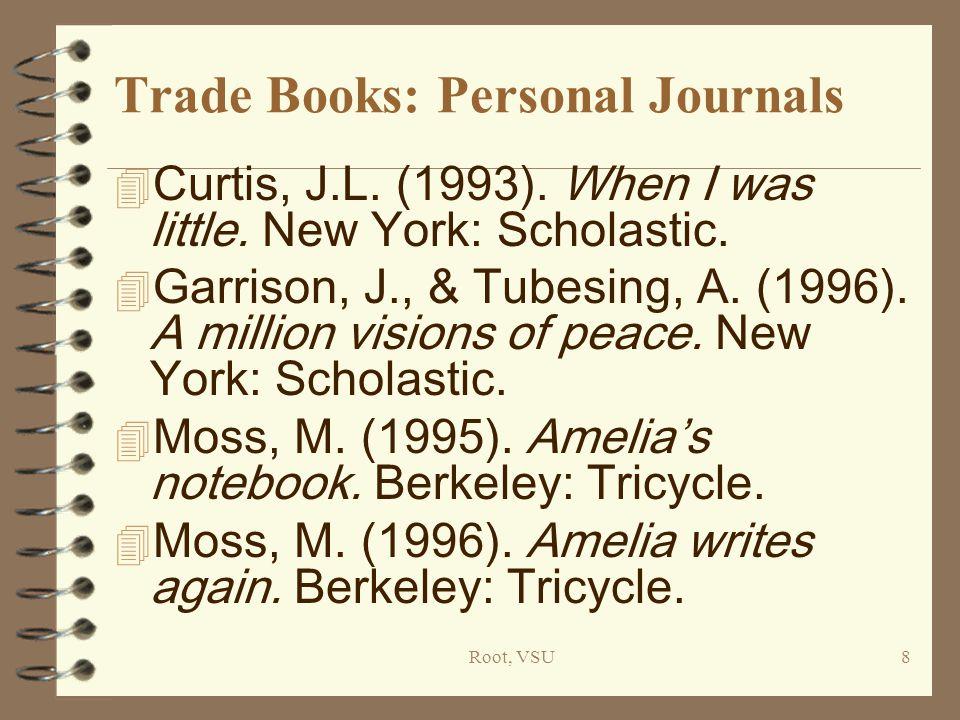 Root, VSU8 Trade Books: Personal Journals 4 Curtis, J.L.
