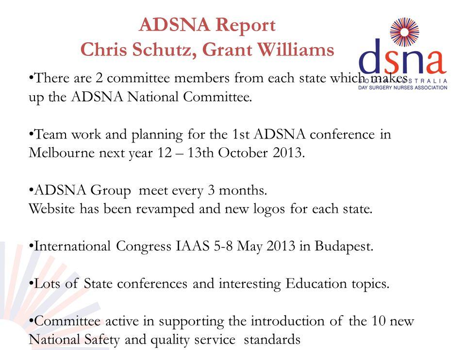 ADSNA Report Chris Schutz, Grant Williams.
