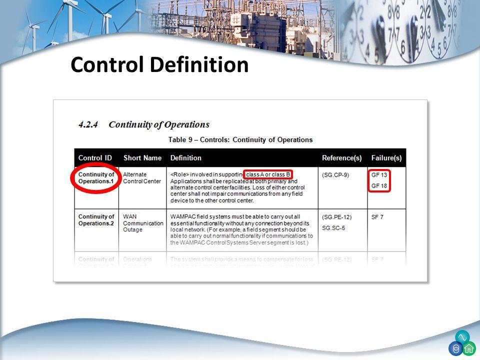 Control Definition