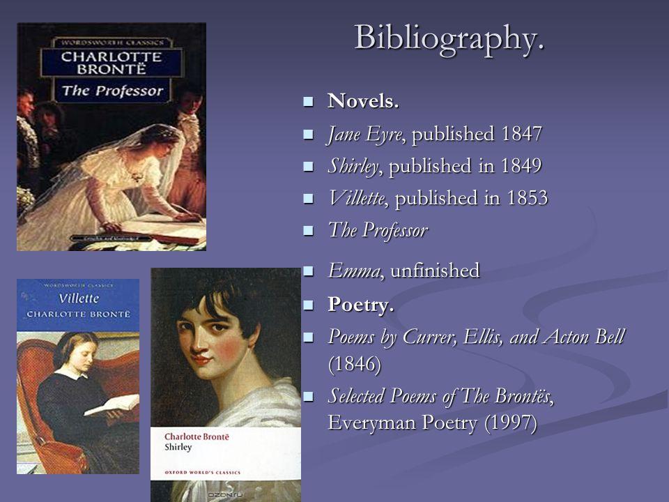Bibliography. Novels.