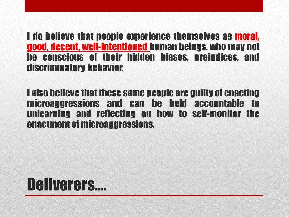 Deliverers….