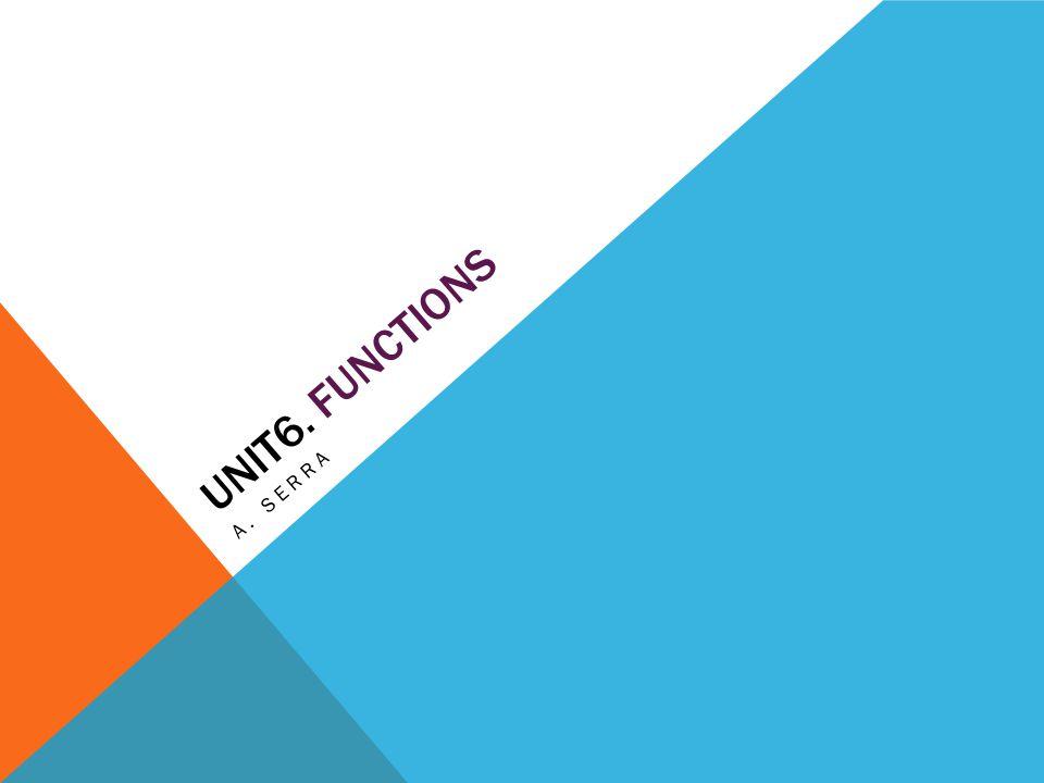 UNIT6. FUNCTIONS A. SERRA