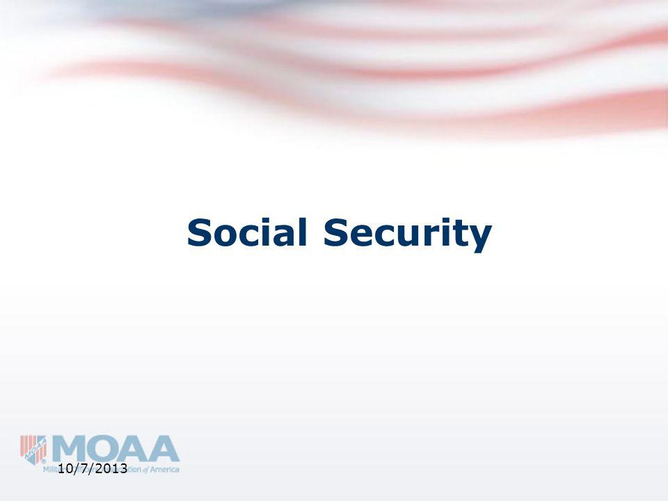 Social Security 10/7/2013