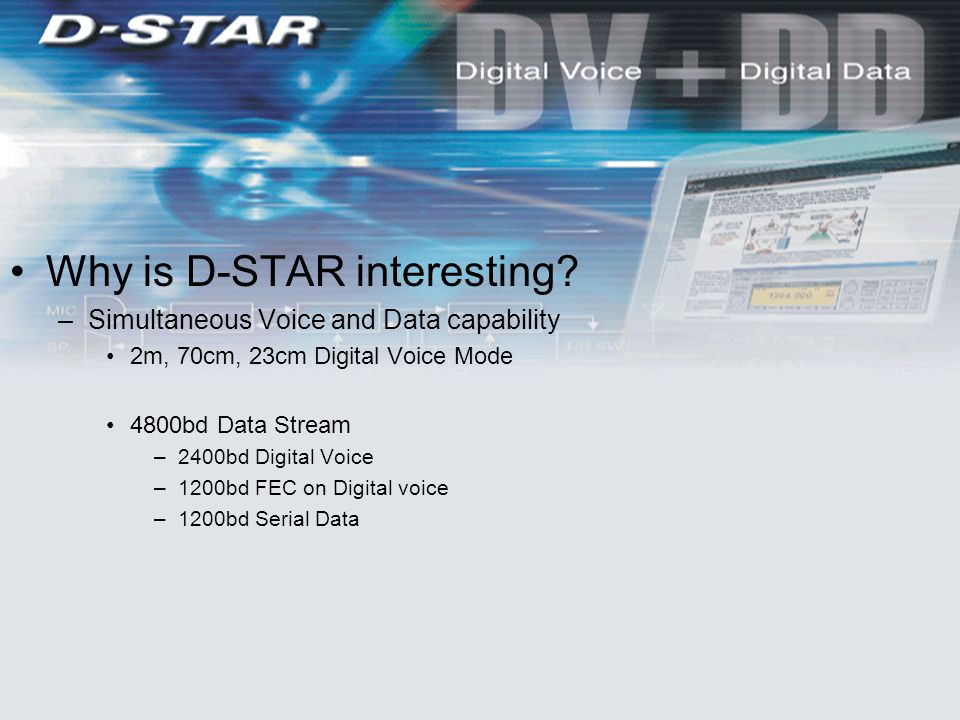Why is D-STAR interesting.