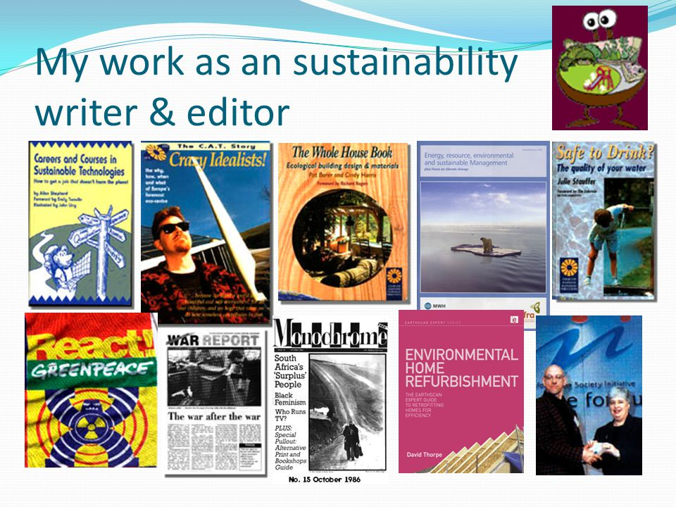 My work as an sustainability writer & editor
