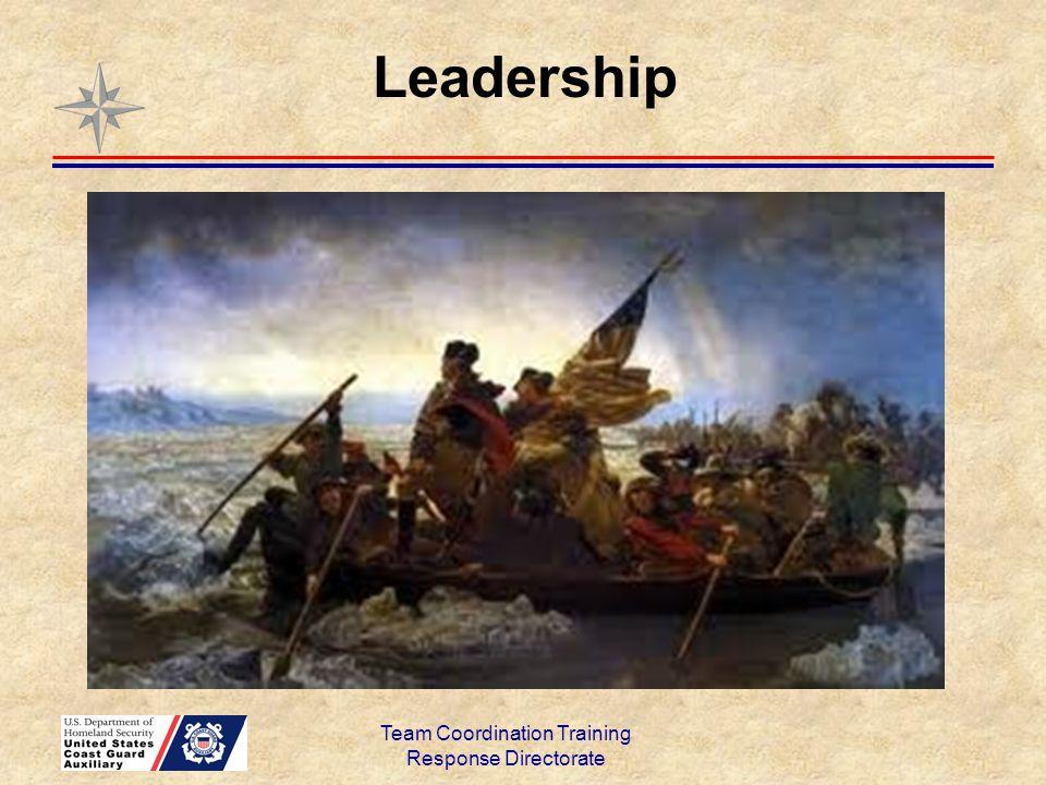 Team Coordination Training Response Directorate Leadership