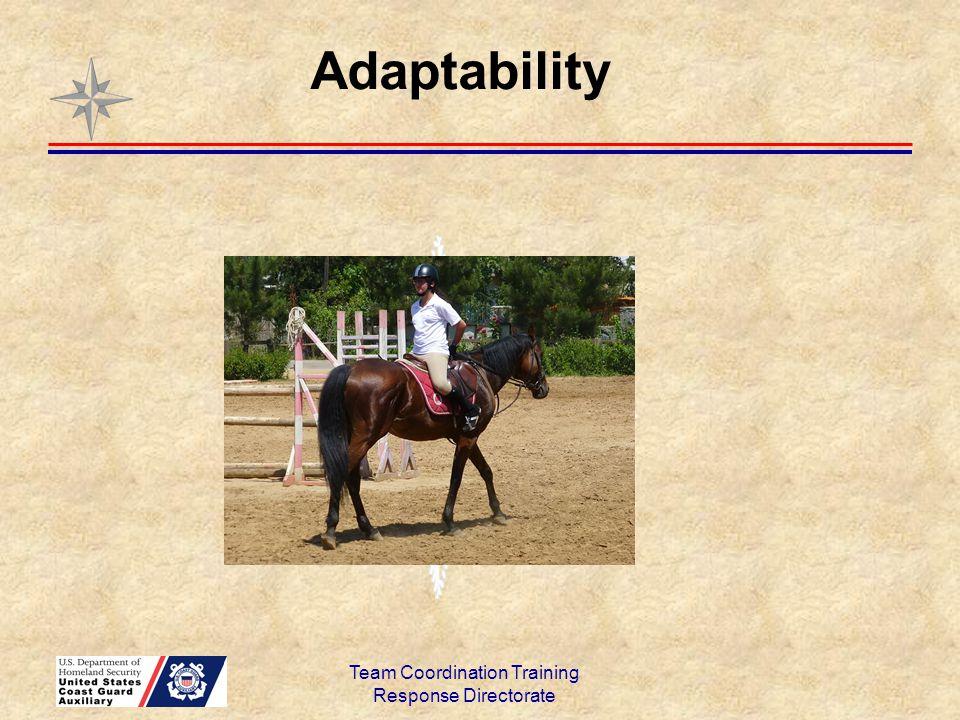Team Coordination Training Response Directorate Adaptability