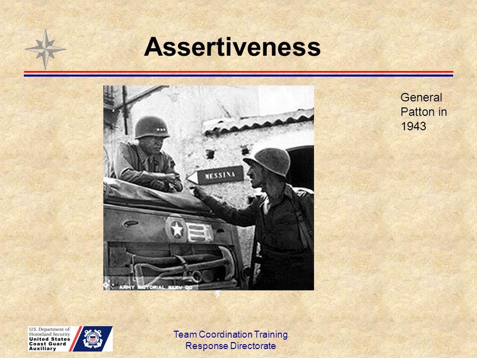 Assertiveness Team Coordination Training Response Directorate General Patton in 1943