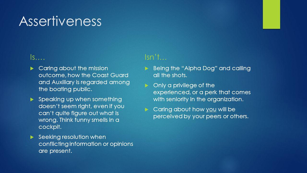 Assertiveness Is….