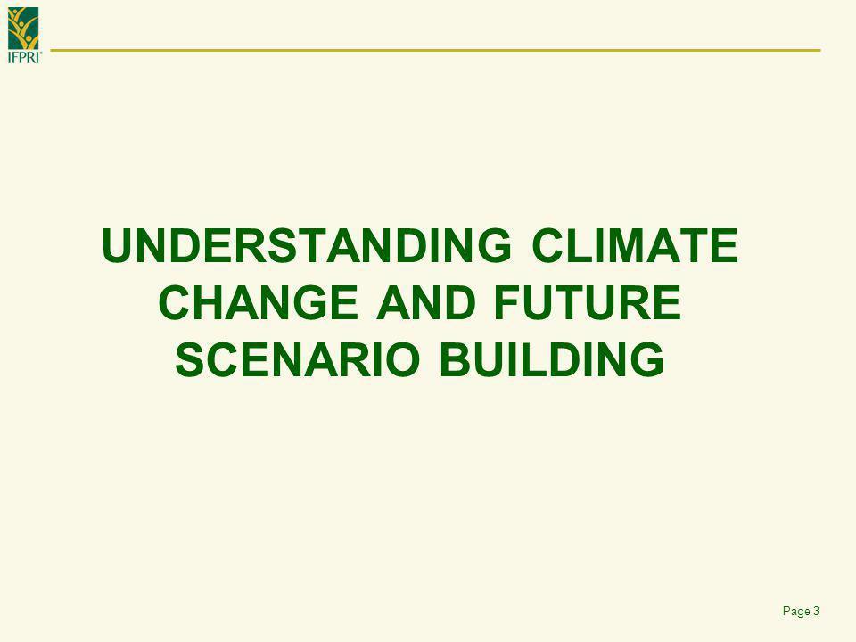 Global Change Model Components  GCM climate scenarios  Assumptions of Pop.