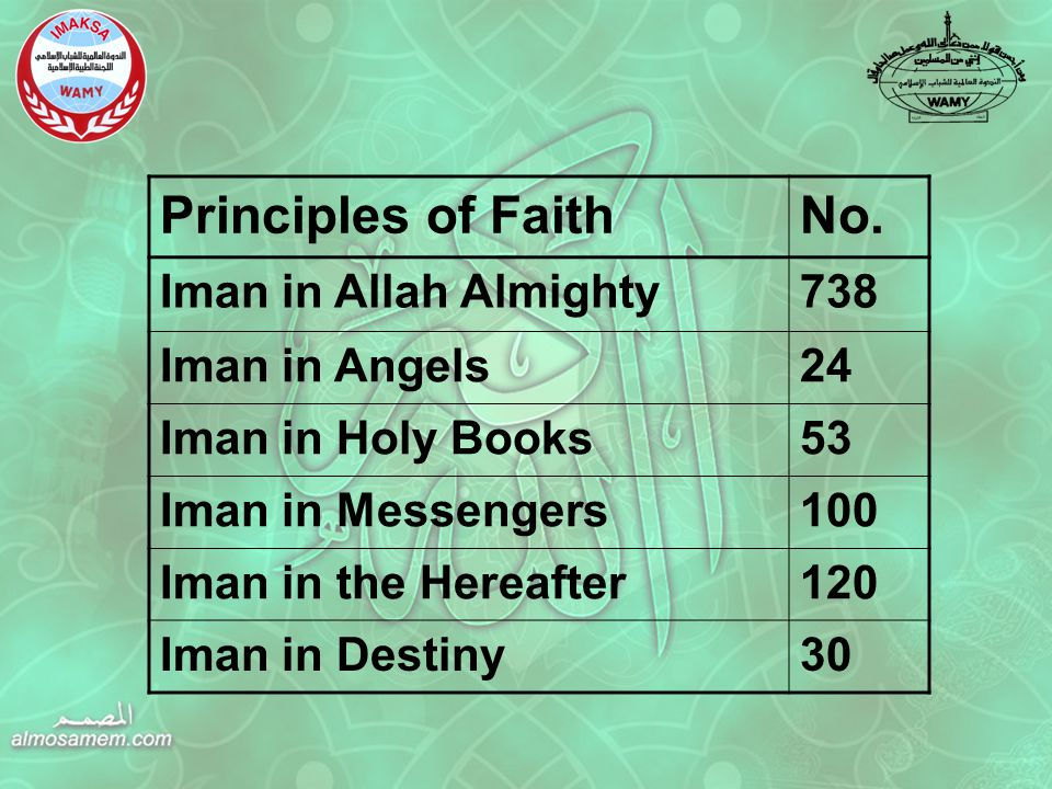 Principles of FaithNo.