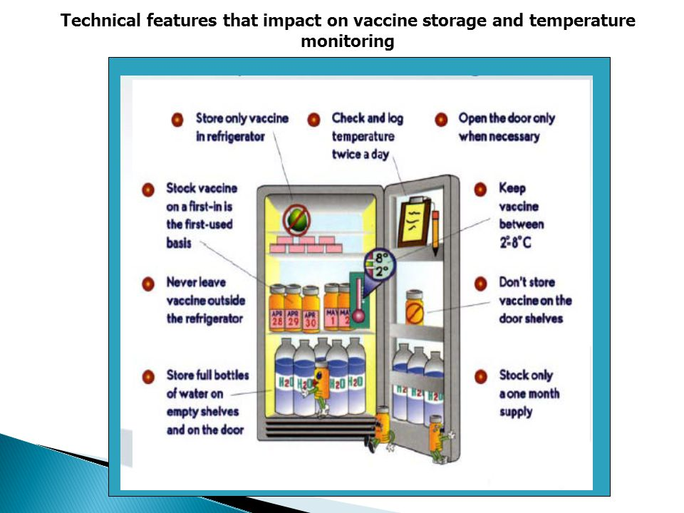 Technical features that impact on vaccine storage and temperature monitoring