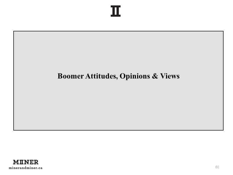 Boomer Attitudes, Opinions & Views 60