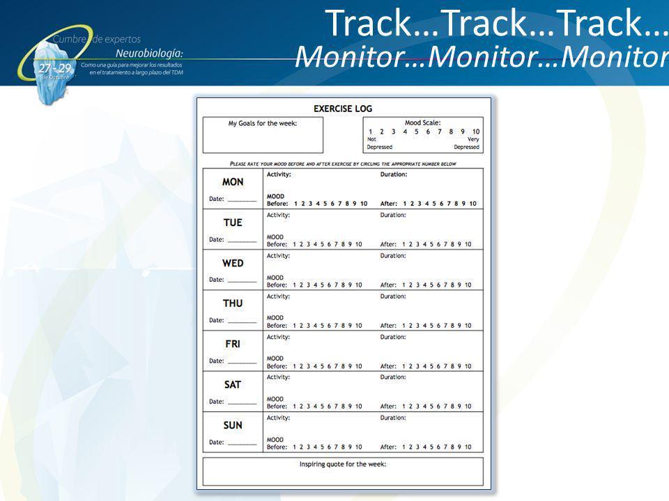 Track…Track…Track… Monitor…Monitor…Monitor