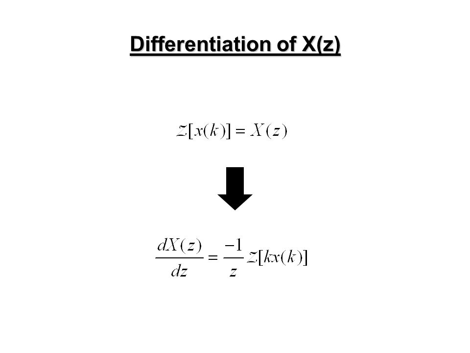 Differentiation of X(z)