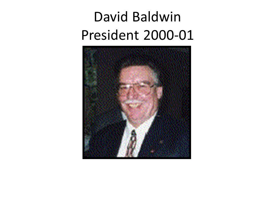 David Baldwin President 2000-01
