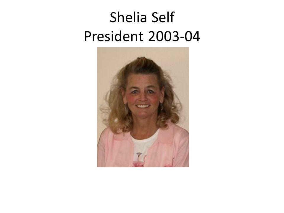 Shelia Self President 2003-04