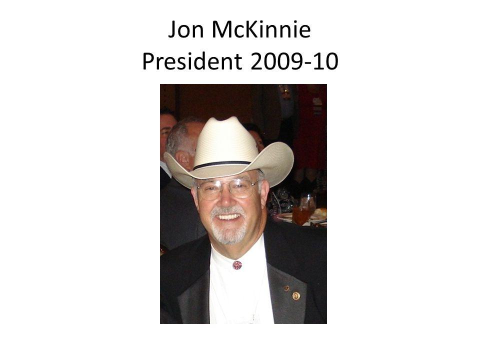 Jon McKinnie President 2009-10