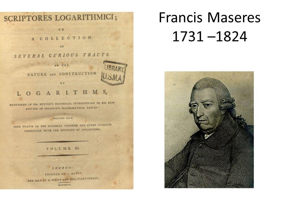 Francis Maseres 1731 –1824