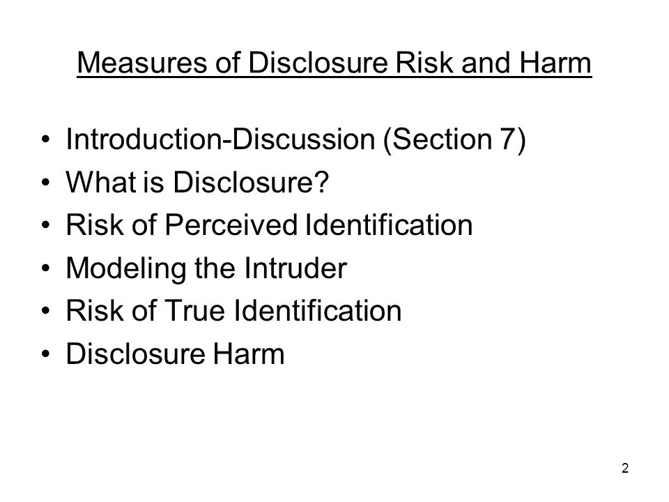 13 What is Disclosure.