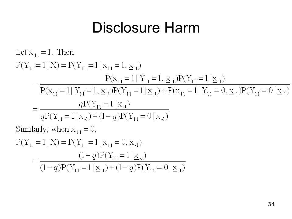 34 Disclosure Harm