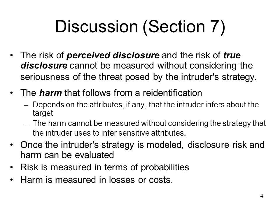 35 Disclosure Harm-Logistic Regression