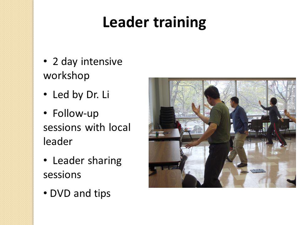 Leader training 2 day intensive workshop Led by Dr.