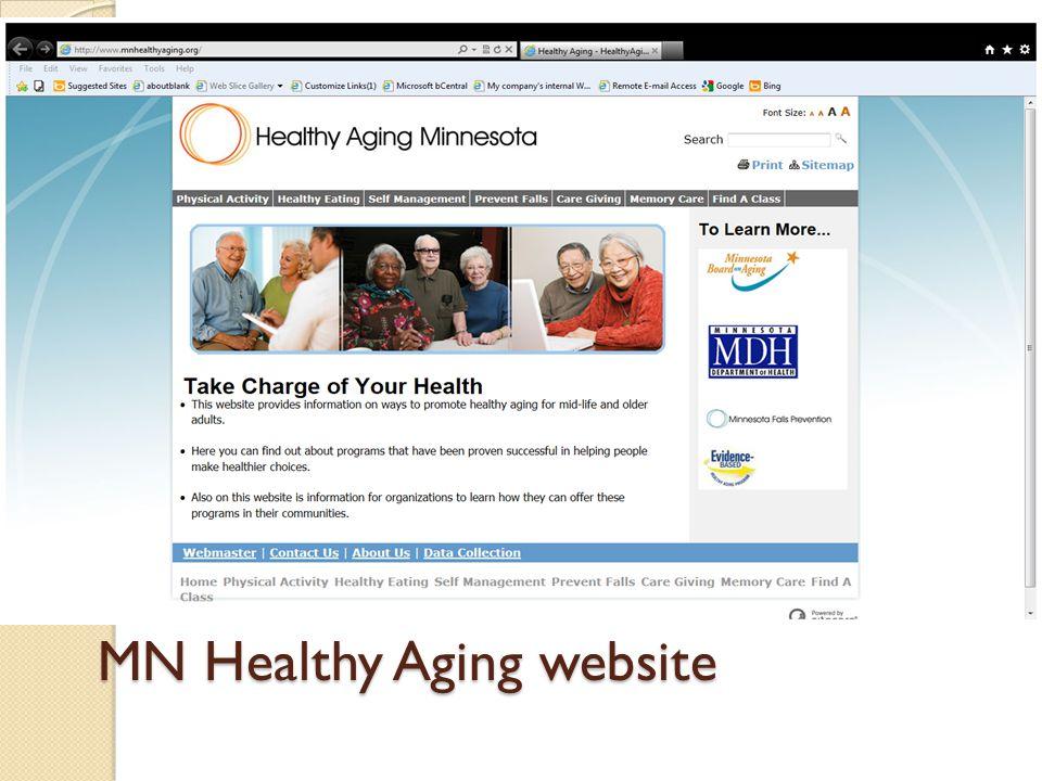 MN Healthy Aging website